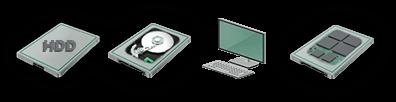 Procédure de récupération de données sur disque dur classique et disque SSD