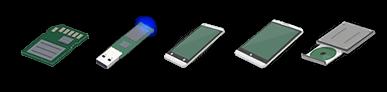 Procédure de récupération de données sur média amovibles, clés usb, carte sd, iphone, telephone mobile et tablette