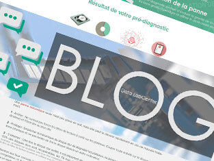 Capture d'écran du blog Data LabCenter