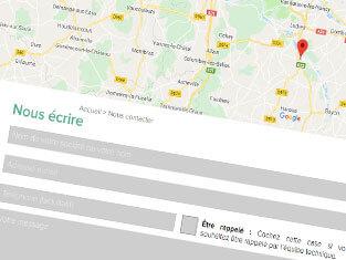 Capture d'écran de la page contact pour partenaire
