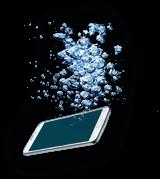 Panne smartphone tombé dans l'eau