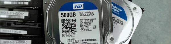 Récupération de données Western Digital WD5000AAKX et WD500AAKS