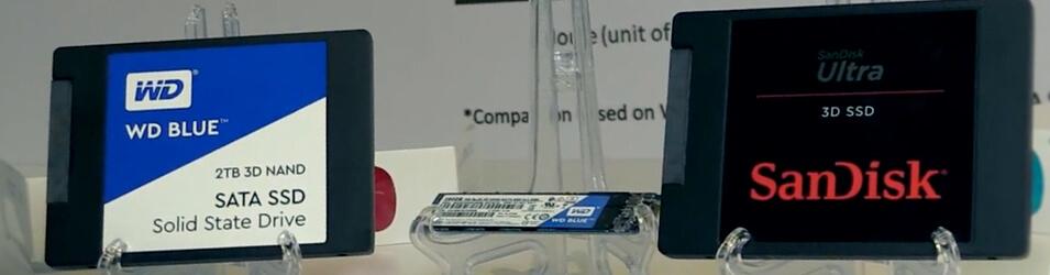 Disque SSD SanDisk et Western Digital