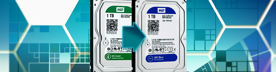 disque dur western digital blue et green